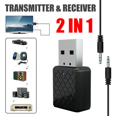 bluetooth 5.0 Transmitter & Receiver A2DP Audio 3,5mm-Klinkenstecker-Aux-Adapter