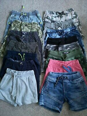 Bundle of boys shorts 18-24 months 14 pairs NEXT & Mothercare branded