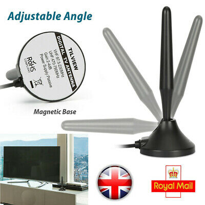 1byone Indoor Outdoor TV Antenna Digital Aerial HD Freeview Portable Mini 1080P