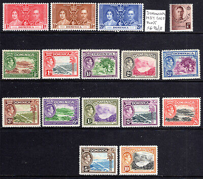 Dominica KGVI nice set to 10/- Cat £90 1938-47 [D907]