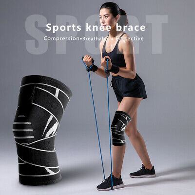 2 Pcs Joint Support Brace Knee Pads Booster Lift Squat Sports Power Spring Force