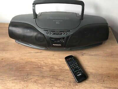 Panasonic RX-DT75 Boombox CD player cassette radio ghetto blaster with remote