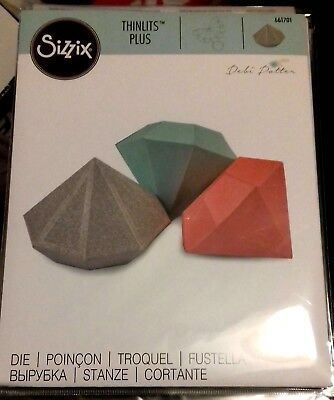 Sizzix Die Cutter Thinlits Diamond Box 661701 Fits Big Shot Plus & Big Shot Pro
