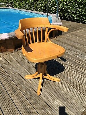 Reduced Vintage Office Swivel Captains Chair Seat Desk Stool Industrial Swedish