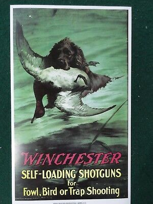 winchester duck hunting and deer hunting advertising 2 Prints Mint