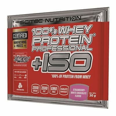 Scitec Nutrition, 100% Whey Protein Professional +ISO  BUSTINA MONOPORZIONE 30g