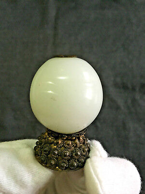 19Th Century Qing Chinese Mandarin Hat Rank Badge Finial - White Color