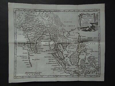 1787 DE LAPORTE Atlas map  EAST INDIES - Indes Orientales - SE Asia  Delaporte