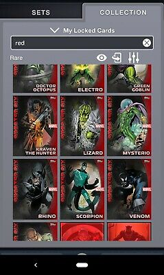 Topps MARVEL COLLECT! RESERVE STASH Red Sets - AVENGERS & SPIDERMAN Sinister Six