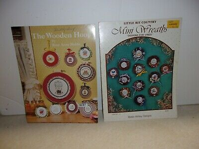 "Counted Cross Stitch Pattern Booklet "" The Wooden Hoop & Mini Wreaths""  [1071]"
