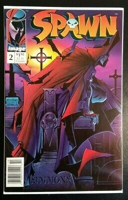 Spawn #2 - Newsstand Edition - [Image Comics - 1992] - Todd Mcfarlane - Nm