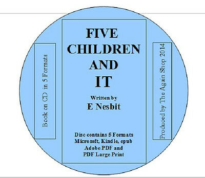 """Book on CD """"Five Children and It"""" by E. Nesbit in 5 Different Formats"""