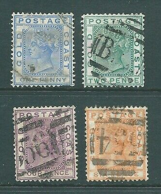 GOLD COAST 1876 Queen Victoria used stamp group to 6d