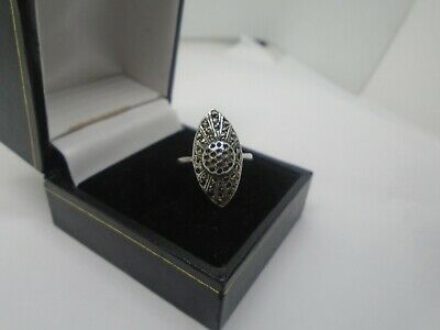 beautiful  Vintage Antique Marcasite Sterling Silver Ring