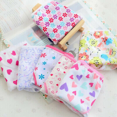 6pc Child Baby Kid Girls Underpants Casual Cotton Panties Underwear Short Briefs