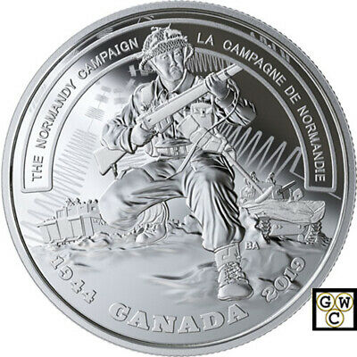 2019'The Normandy Campaign-Battlefront' Prf $20 Silver Coin 1oz .9999Fine(18754)
