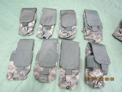 Lot of 8 - US Army ACU Double Mag Pouch Magazine MOLLE EXC