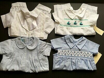 Lot Baby Boy's Smocked Bubbles One Piece Rompers 6 M NWT & NWOT NOS