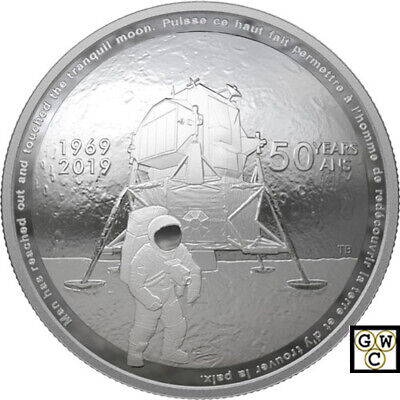 2019 '50th Ann. of the Apollo 11 Moon Landing' Proof $25 Fine Silver Coin(18765