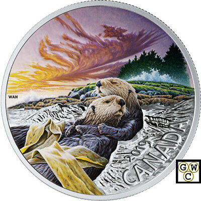 2019 'The Sea Otter- Canadian Fauna' Proof $20 Fine Silver 1oz. Coin(18735) (NT)