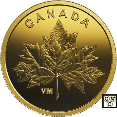 2019 Half-Gram 'Bouquet of Maple Leaves' Proof 25ct Gold Coin .9999Fine(18753)NT