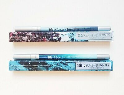 2 X Urban Decay Game Of Thrones The Night King + Winterfell Snow Pencil Liners!