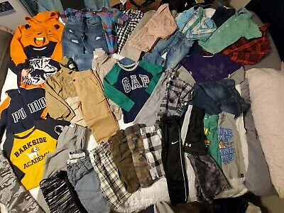 Boys 5-T Mixed Lot GYMBOREE, Nike, polo, Tommy, Hurley! 30 plus pieces!!