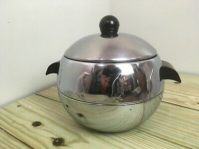 VTG West Bend Penguin Hot/Cold Server~Ice Bucket~Mid-Century~Art Deco~Bakelite