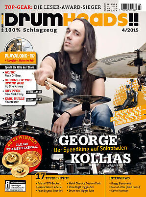 George Kallias - Workshop Bass Drum Pedal Technique - Drumheads with Play along