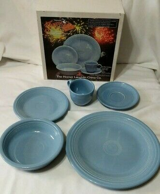 Fiestaware Periwinkle Blue 5 Piece Place Setting 830108 Retired In Box