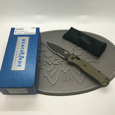 """Benchmade 535SGRY-1 Bugout, 3.24"""" CPM-S30V Part Serrated Gray Blade Knife *BNIB*"""