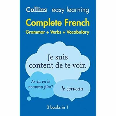 Easy Learning French Complete Grammar, Verbs and Vocabu - Paperback NEW Collins