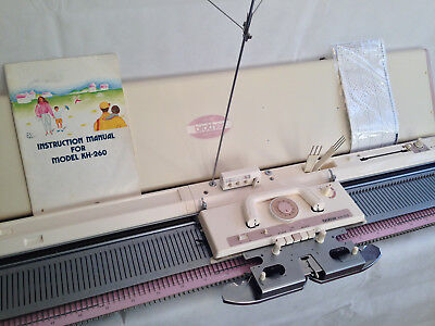 Brother knitting machine KH 260 chunky punch card serviced white 2 year warranty