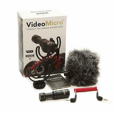 Rode VideoMicro Video Micro Compact On-Camera Microphone DSLR Digital SC7 Cable