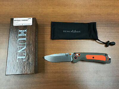 "Benchmade 15061 Grizzly Ridge AXIS Lock 3.5"" Stonewash Hunting Folding Knife"