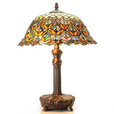 Tiffany-style Peacock Jewel Table Lamp [ID 3067352]