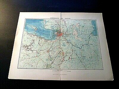 Vintage Russian Map of St. Petersburg and Environs New York D. Appleton & Co.