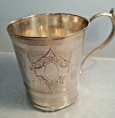 Antique Solid silver tankard acanthus handle beautiful decoration maker AGM