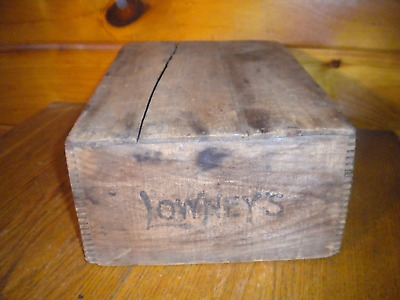 Vintage Wooden LOWERY'S Breakfast Cocoa Shipping Box