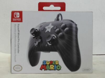 NEW Pdp 500056NAD1 Nintendo Switch Faceoff Super Mario Star Wired Pro Controller