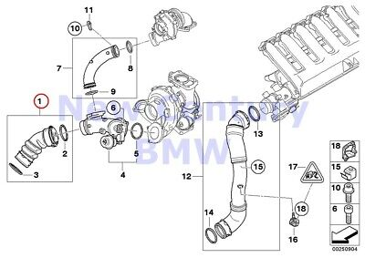 BMW Genuine Engine Inspection Kits Charge Air Line E90N