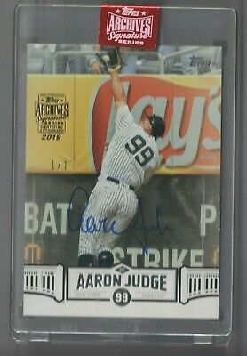 2019 Aaron Judge Topps Archives Signature Series Auto 1/1 1 Of 1 Encased Sealed