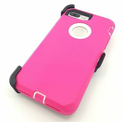 For Apple iPhone 7 8 Plus Case with Belt Clip(Fits Otterbox DEFENDER SERIES)Pink
