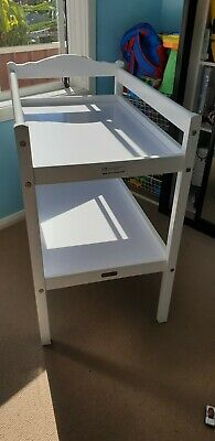 Love N Care Change Table -White-with cushion mat and nappy caddie