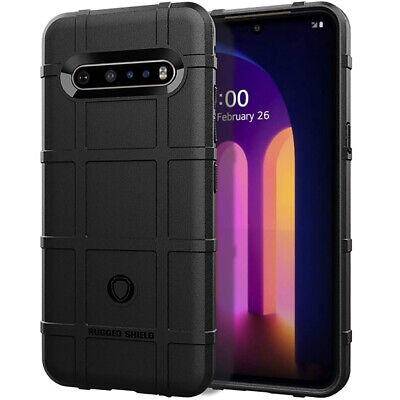 For LG Q60 Case Rugged Armor Drop Protection Defender Shockproof TPU Cover