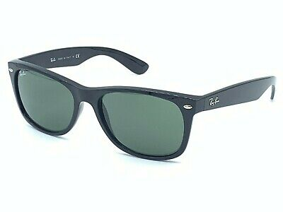 Authentic Ray-Ban RB 2132 901 Shiny Black / Crystal Green 58-18 145mm WITH CASE