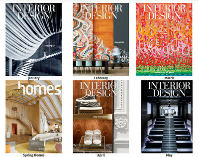 INTERIOR DESIGN MAGAZINE Lot 12 Issues Year Jan 2017 -Dec 2017 &2 Guide &2 Homes
