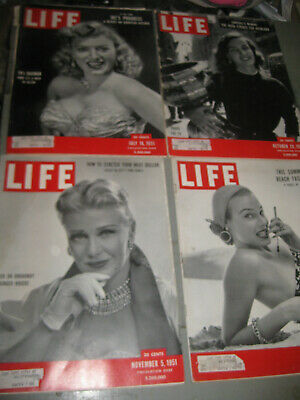 Life Magazine Lot Of 4 1951 Summer Beach Fasion Props For Tv & More Great Ads!