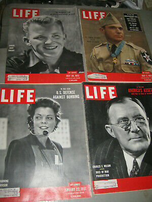 Life Magazine Lot Of 4 1951 Gary Crosby Air Warning Supervisor & More Great Ads!