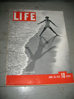 Vintage LIFE Magazine June 28, 1937 IN VERY GOOD CONDITION!